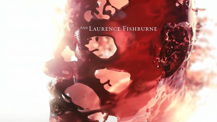 The title sequence and the liquid identity