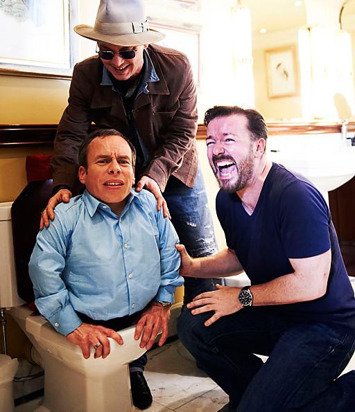 Gervais, Depp, Warwick