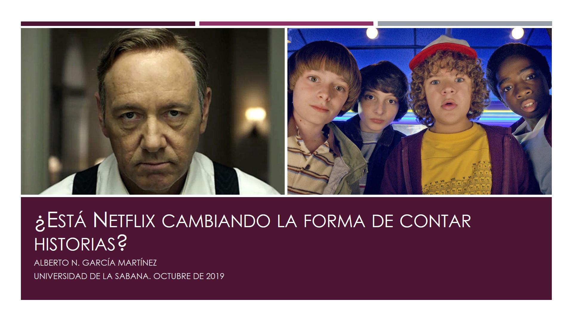 Netflix cambiando forma de contar