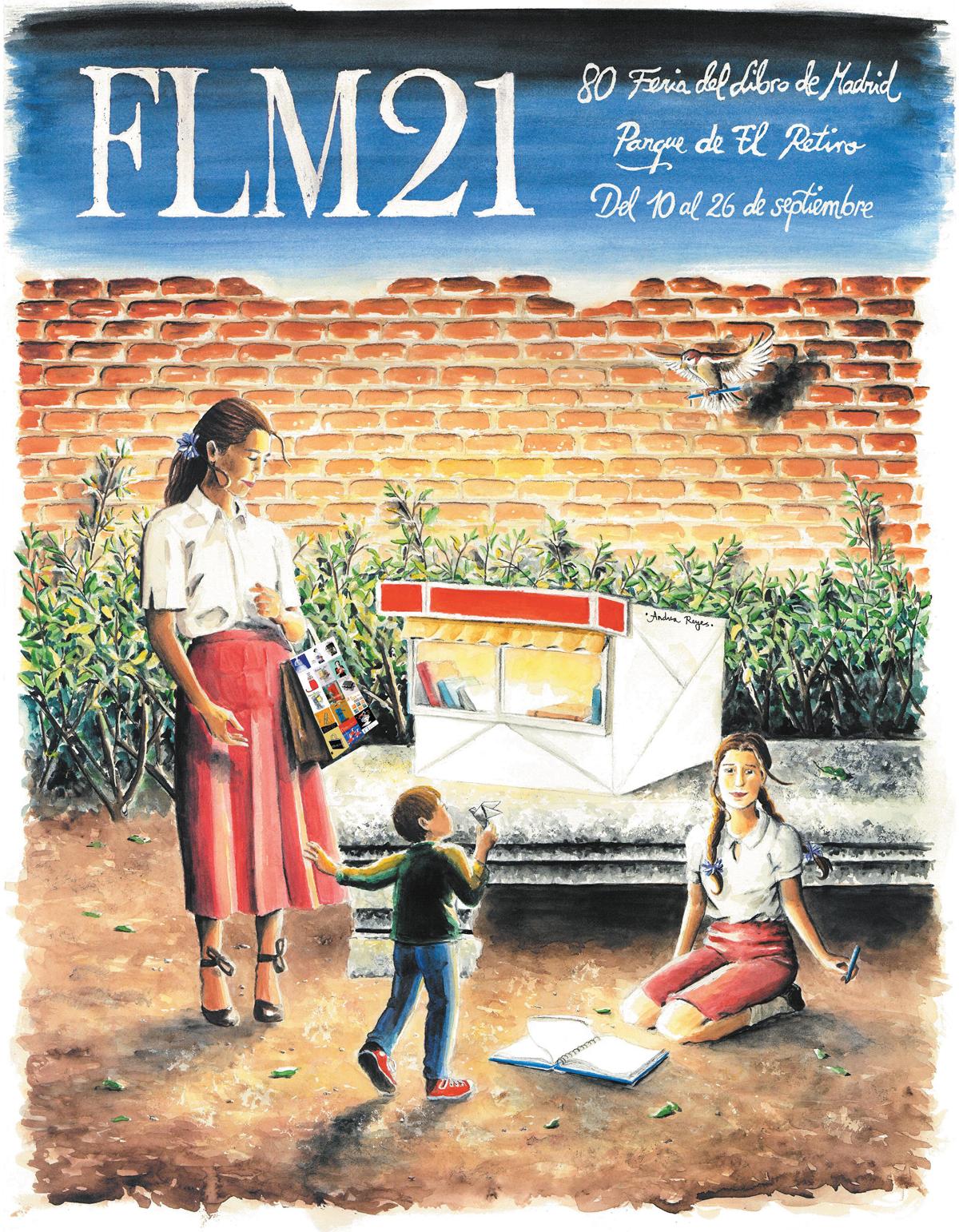 Cartel de la 80ª  edición de la Feria del Libro de Madrid 2021